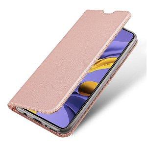 Samsung Galaxy A51 Dux Ducis Flip Cover - Rose Gold