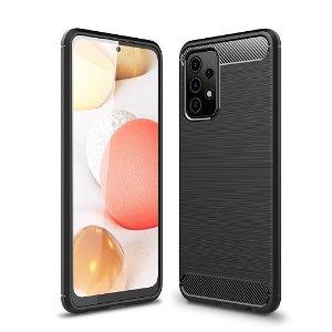 Samsung Galaxy A52s (5G) / A52 (4G / 5G) Carbon Fiber Fleksibelt Plastik Cover - Sort