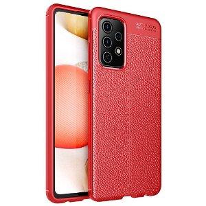 Samsung Galaxy A52s (5G) / A52 (4G / 5G) Fleksibelt Plastik Litchi Cover - Rød