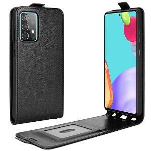 Samsung Galaxy A52s (5G) / A52 (4G / 5G) Vertikal Læder Flip Cover m. Kortholder - Sort
