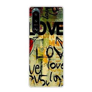 Sony Xperia 5 III Fleksibel Cover - Love Maleri