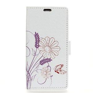 Huawei P20 Lite PU læder Flip Cover m. Stand og Kortholder - Blomstermotiv