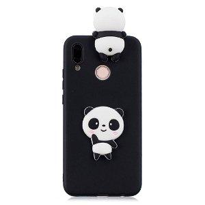 Huawei P20 Lite Cover 3D Shy Panda - Sort