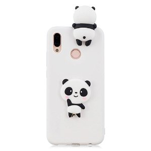 Huawei P20 Lite (2018) Cover 3D Shy Panda - Hvid