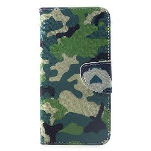 Huawei Mate 20 Pro Læder Cover m. Pung - Grøn Kamoflage