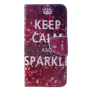 Huawei Mate 20 Pro Læder Cover m. Pung - Keep Calm and Sparkle