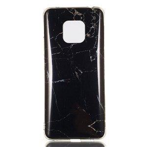 Huawei Mate 20 Pro TPU Cover Black & Grey Marble