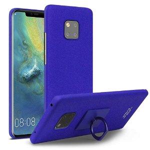 Huawei Mate 20 Pro IMAK Sandy Plast Cover m. Aftagelig Stander Blå