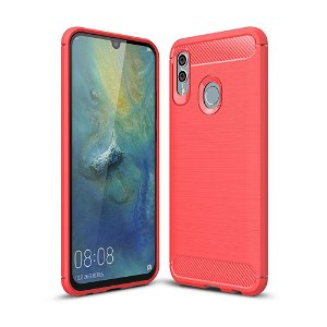 Huawei P Smart (2019) / Honor 10 Lite Rød Fleksibelt Plastik Bagcover