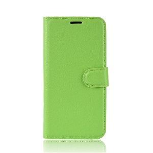 Huawei P30 Blødt Læder Cover m. Pung - Grøn