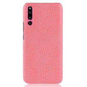 Huawei P30 Læderbelagt Plastik Cover m. Krokodilletekstur - Pink