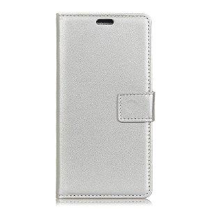Huawei P30 Pro Slim Wallet Læder Cover m. Pung Sølv