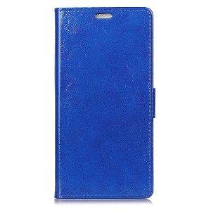 Huawei P30 Pro Blankt Læder Cover m. Pung Mørkeblå