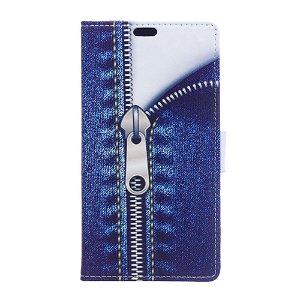 Huawei P30 Læder Cover m. Pung Jeans Zipper