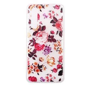 Huawei P30 Gennemsigtigt Fleksibelt Cover - Blomster
