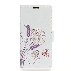Huawei P30 Pro Leather Stand Cover m. Pung Butterfly And Flower