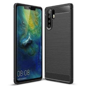Huawei P30 Pro Plastik Cover m. Carbon Look - Sort