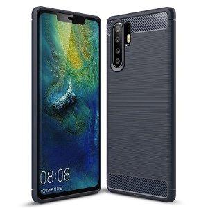 Huawei P30 Pro Plastik Cover m. Carbon Look - Mørkeblå