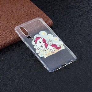 Huawei P30 Fleksibelt Plastik Cover - Unicorn