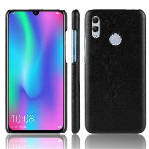 Huawei P Smart (2019) Litchi Læder Tekstur Plastik Cover Sort