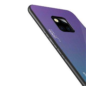 Huawei Mate 20 Pro Cover m. Glasbagside - Lilla