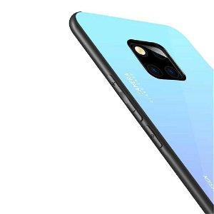 Huawei Mate 20 Pro Cover m. Glasbagside - Lyseblå