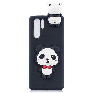Huawei P30 Pro Fleksibelt Plastik Cover 3D Cute Panda