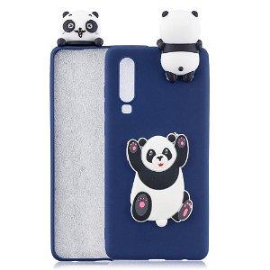 Huawei P30 Fleksibelt Plastik Cover 3D Panda