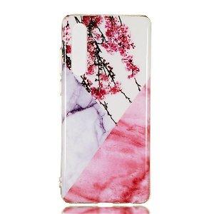Huawei P30 Fleksibelt Marble Cover Kirsebærtræ
