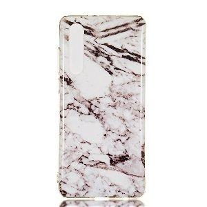 Huawei P30 Fleksibelt Marble Cover Grå