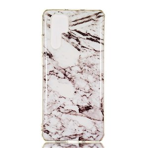Huawei P30 Pro Fleksibelt Cover - Marble Grå