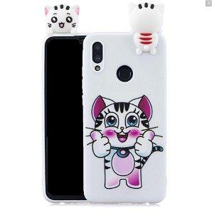 Huawei P Smart (2019) / Huawei Honor 10 Lite Fleksibelt Plastik Cover 3D Cat