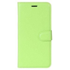 Huawei P30 Lite Læder Flip Cover m. Pung - Grøn