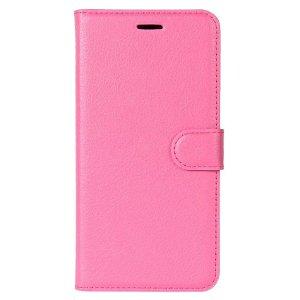 Huawei P30 Lite Læder Flip Cover m. Pung - Pink