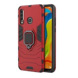 Huawei P30 Lite Håndværker Case m. Kickstand Rød