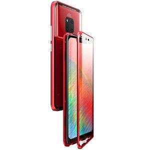 Huawei Mate 20 Pro 360° Magnetisk Cover m. Glasforside & Bagside - Rød