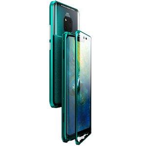 Huawei Mate 20 Pro 360° Magnetisk Cover m. Glasforside & Bagside - Grøn