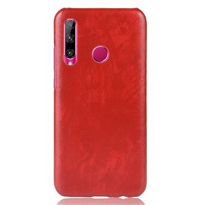 Honor 20 Lite Litchi Tekstur Plastik Cover - Rød