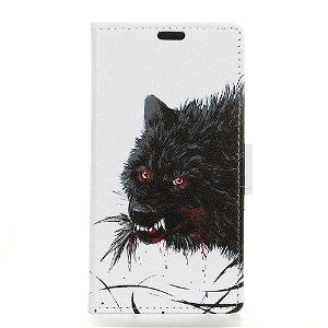 Huawei P Smart Z Læder Cover m. Pung Sort Blodig Ulv