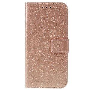 Huawei P Smart (2019) / Huawei Honor 10 Lite Læder Flip Cover m. Pung - Mandala Mønster Rose Gold