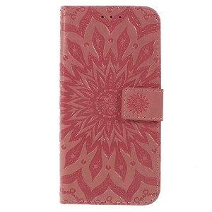 Huawei P Smart (2019) / Huawei Honor 10 Lite Skinn Flip Deksel m. Lommebok - Mandala Mønster Rosa