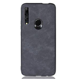 Huawei P Smart Z Læderbetrukket Plastik Cover Grå