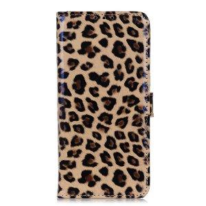 Huawei P Smart Z Blankt Læder Cover m. Pung Leopard