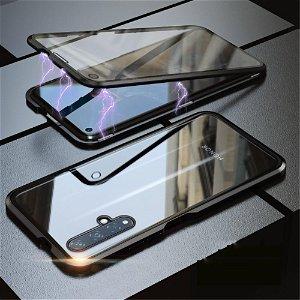 Huawei Nova 5T / Honor 20 360⁰ Magnetisk Cover m. Glas Forside & Bagside - Sort