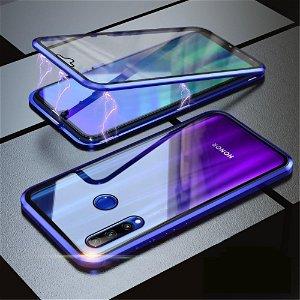 Honor 20 Lite 360⁰ Magnetisk Cover m. Glas Forside & Bagside - Blå