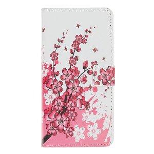 Huawei Nova 5T / Honor 20 Læder Cover m. Kortholder Blomstertræ