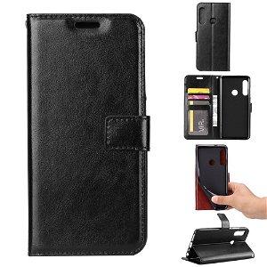 Huawei P Smart Z Flip Cover m. Kortholder og Stand - Sort