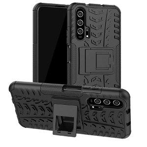 Honor 20 Pro Hybrid Håndværker Cover m. Kickstand - Sort