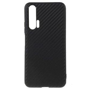 Honor 20 Pro Carbon Fiber Fleksibelt Cover - Sort