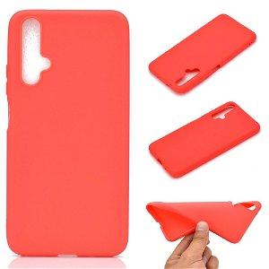 Huawei Nova 5T / Honor 20 Fleksibelt Mat Cover - Rød